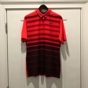 dbc3624ea Nike Shirts - Men s Nike Mobility Fade Stripe Polo Golf Shirt L